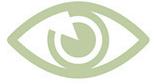 símbolo olhar olho verde