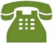símbolo telefone verde