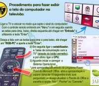 Base Ecológica, Configuração TV e Micro - Aviso