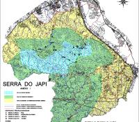 Mapa - Jundiaí, Serra do Japi - Curvas; Decreto 18179,2001