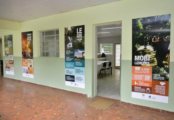 Painéis contam detalhes da Serra do Japi