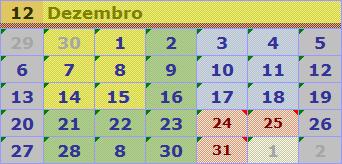 escala calendário 201512